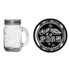 Silver Chalkboard Graduation 16-oz. Mason Jar