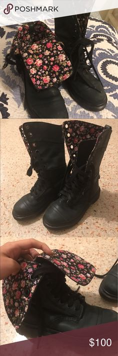 Dr. Martens 1914 Triumph floral inside MEMORIAL DAY SPECIAL❗️Dr Martens 1914 Triumph boots, floral inside. Slight wear and scuff on the front but otherwise great condition. (Cover picture take from internet. These are slightly more green colored) Dr. Martens Shoes Combat & Moto Boots