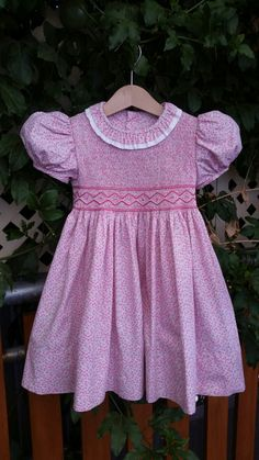 Smocked dress inspired by HRH Princess Charlotte at Trooping the Colour 2017.
