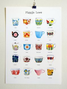 Figgjo Love  print A3 size