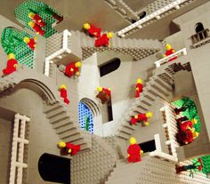 M.C. Escher done up in Lego