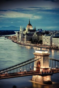 Parliament Chain Bridge, Budapest Hungary.