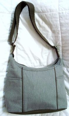 NEW 31 THIRTY ONE FREE TO BE CARRY ALL CROSSBODY HANDBAG GRAY BRUSHED TWILL $65…