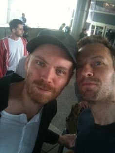 Chris Martin and Jonny Buckland from Coldplay- I heart thee