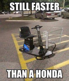 Meme - Still faster than a honda - http://www.jokideo.com/