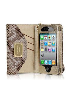 MICHAEL Michael Kors iPhone Wristlet, Python.