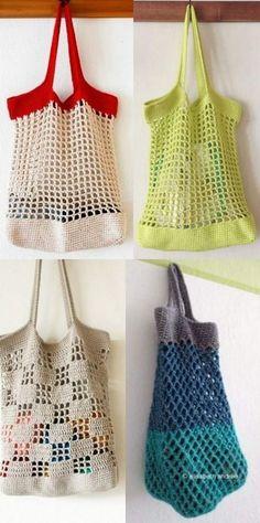 Copie: 20 Modelos de bolsa sacola de crochê