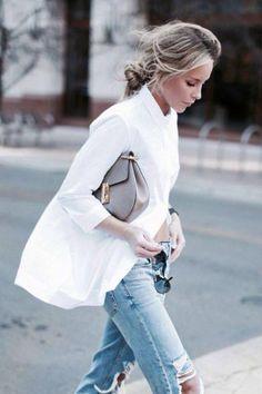La chemise blanche est un classique