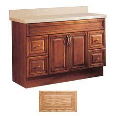 Insignia�Ridgefield 48-in x 21-in Medium Oak Traditional Bathroom Vanity