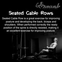 Build you Back with Seated Cable Rows!! https://www.facebook.com/photo.php?fbid=645997985443993