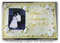 pictures of 50th wedding anniversary sheet cakes - Google Search