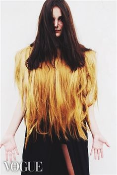 by federica fregonese #fashiondesigner #collection #fur #hair #extentions #federicafregonese #polimoda #vogue