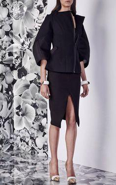 Black Oleander Jacket by Maticevski for Preorder on Moda Operandi