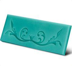 Molde silicone para confeitaria arabesco