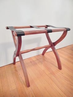 Vtg WOODEN Folding LUGGAGE Stand Wood Hotel Suitcase Rack Mid Century    SOLD!