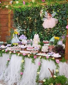 first birthday party idea 7th Birthday Party For Girls, Princess Birthday Party Decorations, Girls Tea Party, Garden Birthday, Fairy Birthday Party, Kids Party Themes, Fairy Baby Showers, Butterfly Garden Party, Enchanted Forest Party