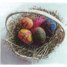 Felted Easter Eggs Kit. 100% wool roving to make six felted eggs for spring. Made in Maine. $19.95