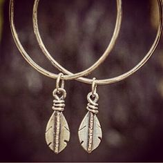 FeathersHoops. Yes#handmadejewelry #feathers #hoops #bigassearrings #lightasafeather #floatingonair #windcreature #silverjewelry #handmadeearrings #boho #bohemianjewelry #hippiebling