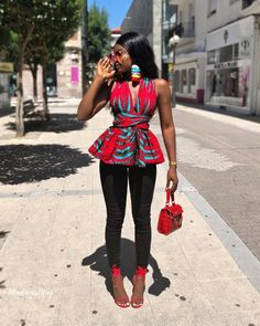 Tenue: Chemises, Tuniques et Hauts African Print/ Ankara Blouse / African Clothing/ Ankara Print - # African Fashion Ankara, African Fashion Designers, Latest African Fashion Dresses, African Inspired Fashion, African Print Fashion, Africa Fashion, African Wear, Fashion Prints, African Style