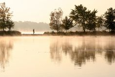 Autumn Sunrise at Horn Pond, Woburn, MA