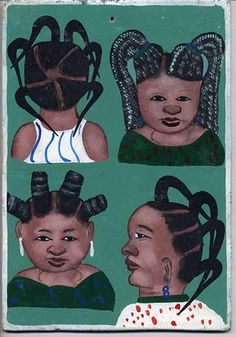 West African Barber Shop Graphic by Charlie Gower, via Flickr