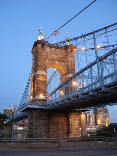 Cincinnati. :) Roebling Suspension Bridge. We crossed this bridge every Friday to go to KY for cheap booze and cigarettes.
