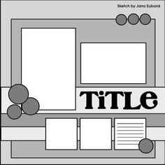 :: Scrapbooking sketch; 5 photo layout. ::