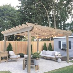 @athomewithjhackie's DIY pergola is seriously impressive! Plus, we love how she incorporated matching decor, such as the plant container and side table. Tip: adding twinkle lights to your outdoor space can be the cherry on top! 😍 Share your outdoor space with us using #bhghome