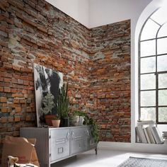 Another great find on Brewster Home Fashions Bricklane Wall Mural by Brewster Home Fashions Feature Wallpaper, Brick Wallpaper, Photo Wallpaper, Wallpaper Murals, Exposed Brick, Faux Brick, Home Wall Decor, Wall Murals, Wall Decal