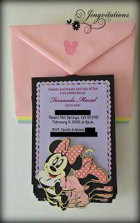 Minnie Mouse Birthday Invitations   #silhouettecameo #cricut
