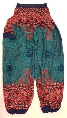 Teal Mandala Rose Pants – Asha Pants