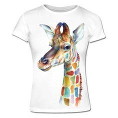 Rainbow Giraffe Frauen T-Shirt