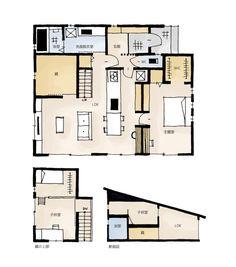 スペースを有効活用!蔵のある家の間取り | 平屋・27坪・2LDK | とりどりまどり Craftsman Floor Plans, House Floor Plans, Apartment Layout, House Layouts, Smart Home, My Dream Home, Architecture Design, Interior Design, Flooring