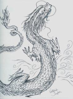 Dragon Drawings | chinese dragon sketch by dragonspark traditional art drawings fantasy ...