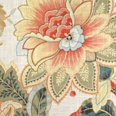 Rose Wallpaper, Fabric Wallpaper, Drapery Fabric, Fabric Decor, Art Nouveau, Chinoiserie Fabric, Dining Room Wallpaper, Crewel Embroidery, Embroidery Designs