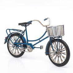 Miniatura Bicicleta com Cestinha Vintage - Machine Cult   A loja das camisetas de carro e moto