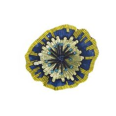 Forest Of Chintz Bloom Brooch ($163) ❤ liked on Polyvore featuring jewelry, brooches, lime, beading jewelry, beaded jewelry, bead jewellery, sequin jewelry and lime green jewelry