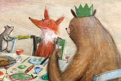 """Fox and Friends """"Christmas Cheer"""" illustration by Laura Hughes"""