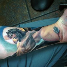 Awesome Perspective Tattoo Crucifixion Tattoo Jesus Tattoo