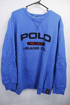 VINTAGE POLO RALPH LAUREN SOFT COTTON LONG SLEEVE SWEATSHIRT SZ XL ROYAL BLUE #RalphLauren #SweatshirtCrew