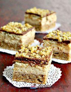 Prajitura cu crema caramel, biscuiti si ciocolata