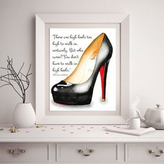 Louboutin Shoes Fashion Print Christian Louboutin by ChezLorraines