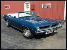 1970 Plymouth 340 Cuda Convertible, 4-Speed with A/C Plymouth only sold 88 340 'Cuda 4-Speed Convertibles in 1970.