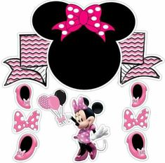 Topo Minie Mouse Party, Minnie Mouse Baby Shower, Disney Diy, Disney Crafts, Mickey Birthday, Mouse Parties, Kids Cards, Diy And Crafts, Creations