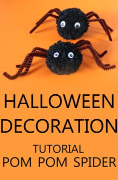 Halloween Decoration DIY Pom Pom - Spider from Yarn - Dekoracja Pająk z Pompona - Ozdoba na Halloween Are you looking for an original Halloween decoration? Watch the video and get inspired! Have fun watching and creating (*^^*) Halloween 1, Halloween Cards, Craft Stick Crafts, Diy Crafts, Mermaid Blanket, Crochet Patterns For Beginners, Easter Crafts For Kids, Diy Halloween Decorations, Cool Watches