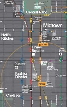 Pedestrian más New York. Pentagram has created a useful map with a great design. Never find yourself lost around New York City again! New York Vacation, New York City Travel, New York Trip, New York City Map, A New York Minute, Voyage New York, Empire State Of Mind, I Love Nyc, Bon Voyage