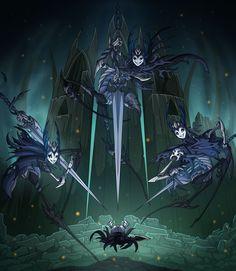 Hollow Knight - Mantis Lords by TimeLordJikan on DeviantArt Dream Fantasy, Fantasy Art, Team Cherry, Hollow Art, Hollow Night, Knight Art, Video Game Art, Dark Souls, Fantasy Creatures