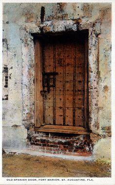 Old Spanish door, Fort Marion - Saint Augustine, Florida