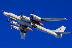 A Russian Air Force Tupolev Tu-95MS Bear Bomber.