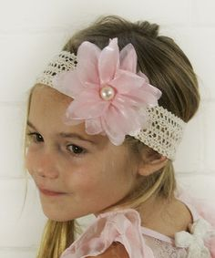 Another great find on #zulily! Pale Pink Chiffon Flower Headband by Hipbabies #zulilyfinds